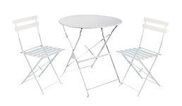 RIKILA EVENTS Paris location pack mobilier jardin, table, chaises, metal, blanc