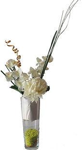 Location composition florale haute pour buffet fleurs blanches pas chere