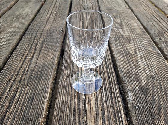 verre a eau a pied vintage