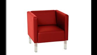 RIKILA EVENTS Paris Location fauteuil cubic rouge similicuir pas cher