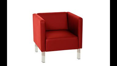 RIKILA EVENTS Paris Location fauteuil cubic rouge pas cher