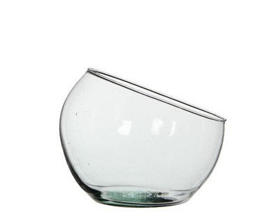 Vase boule inclinée