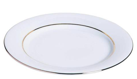 Assiette filet or 27 cm