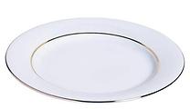 RIKILA EVENTS Paris Location assiettes blanches filet or 24 cm pas cheres