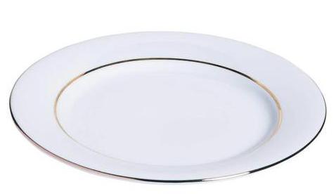Assiette filet or 21 cm