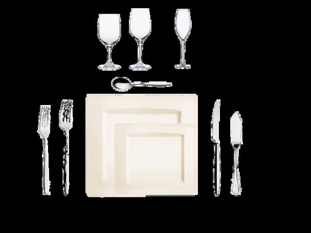 Location pack art de la table passion pas cher fourchette couteau assiette verre
