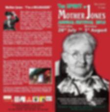 Programme for The Spirt of Mother Jones Festval 2016
