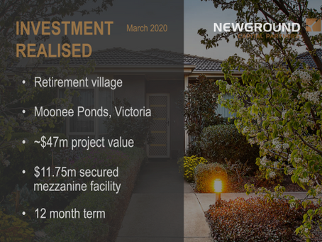 Next Stage Living | Investment Exit March 2020