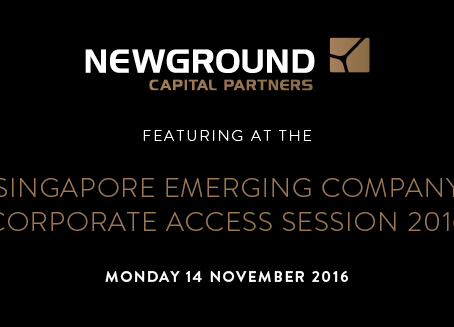 Singapore Emerging Company Corporate Access Session 2016