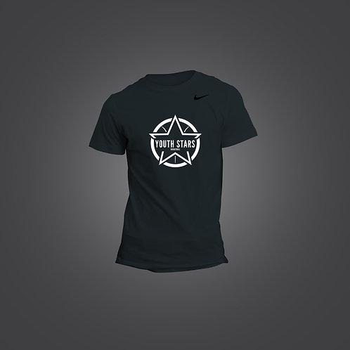 Nike YS Round Logo T Shirts - Black