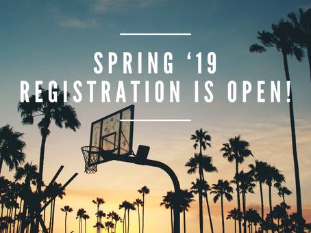 2019 Spring Registration