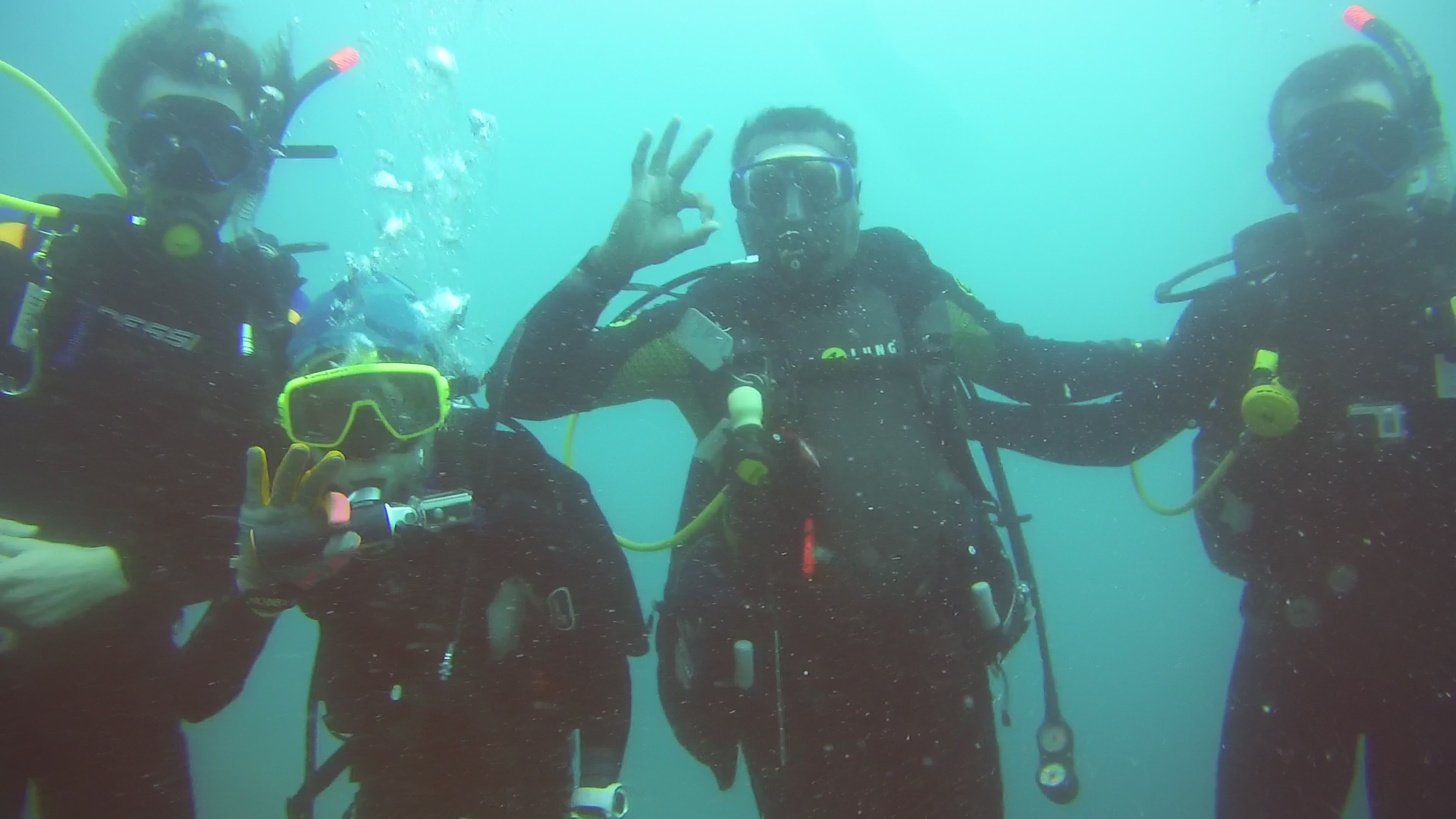 End of Open Water with Instructor Lucas