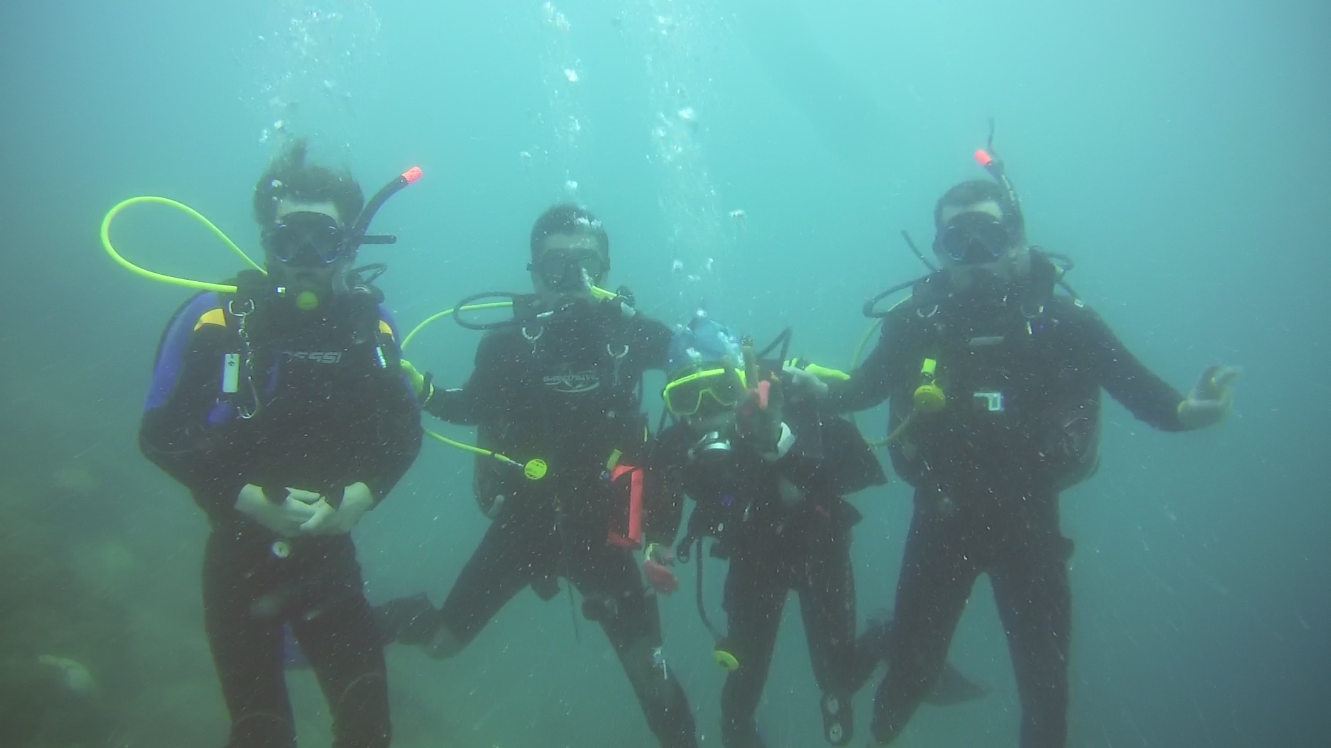 End of Open Water with Divemaster Jack