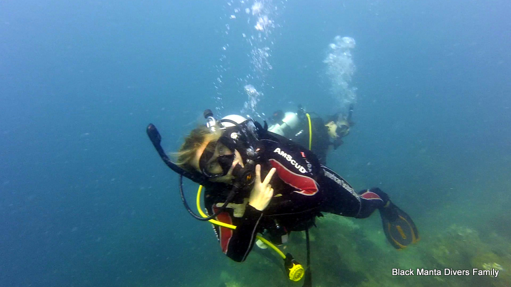 Diving in Indonesia is fun