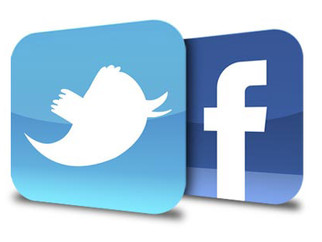 We now have Facebook & Twitter