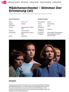 """Dokumentarfilm """"STIMMEN DER ERINNERUNG"""" (AT) @ BERLINALE TALENTS!"""