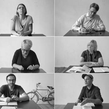 Videoinstallation in der Ausstellung von Thomas Bratzke