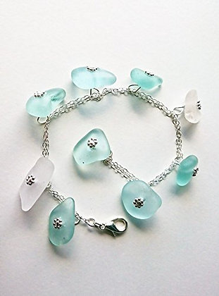 Cottage Glass Beach Glass Bracelet