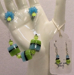 Cottage Glass Lampwork Bead Necklace