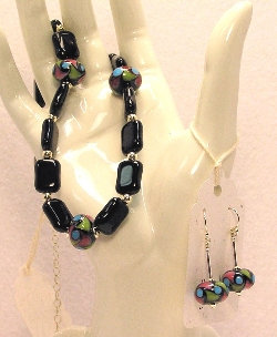 Cottage Glass Lampwork Necklace