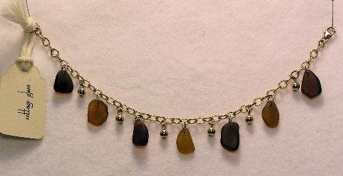 Cottage Glass Brown Beach Glass Bracelet