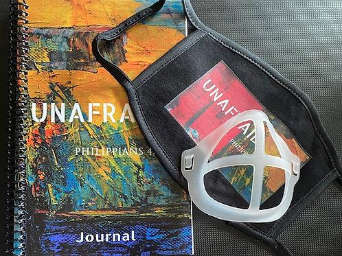 UNAFRAID:  Journal and Mask combo