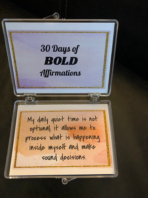30 Days of BOLD Affirmations