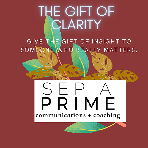The Gift of Clarity - One time coaching session