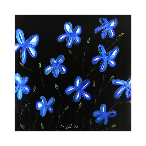 밤에 빛나는 꽃 (Flowers glowing in the night)
