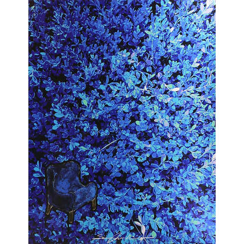 Garden series - Deep Blue Garden