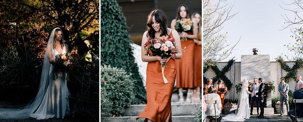 Rust bridsmaid dress