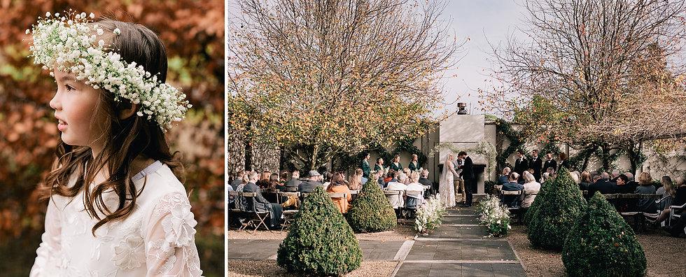Outdoor winter garden wedding