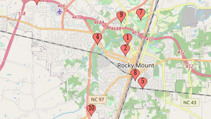 12 BUSINESS BREAK INS DURING THE MONTH OF MAY IN ROCKY MOUNT - 10 IN THE LAST WEEK