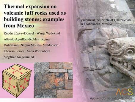 New study on the thermal expansion of volcanic tuff rocks used as building stones in Mexico