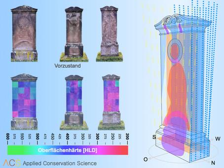 Neue Studie zur Bewertung der Steinfestigung an künstlich verwitterten Probekörpern und an historisc