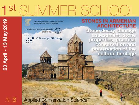 "First Summer School in ""Stones in Armenian Architecture"" starts next week"