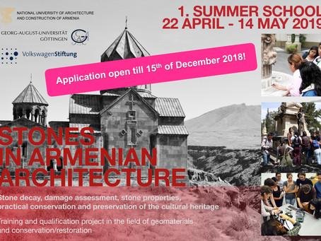 Summer School 2019 in Armenia - application deadline extended