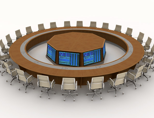 Tables with monitors