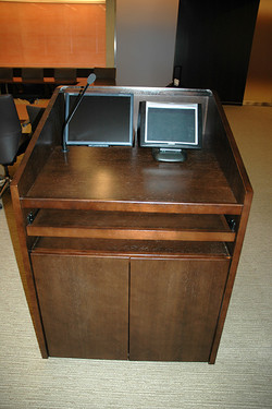 Lecterns with monitors