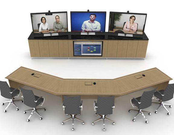 Credenzas with monitors
