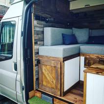 Rustic campervan conversion