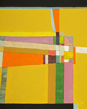 Yellow Abstract Painting