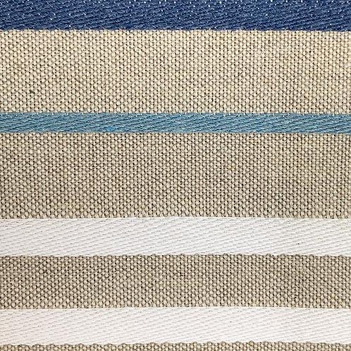 Horizontal Blue White Stripe