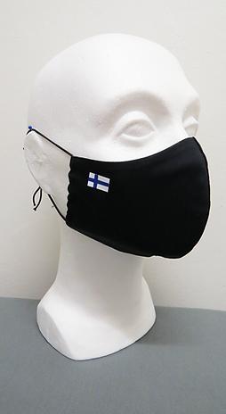 Kasvomaski Suomen lipulla