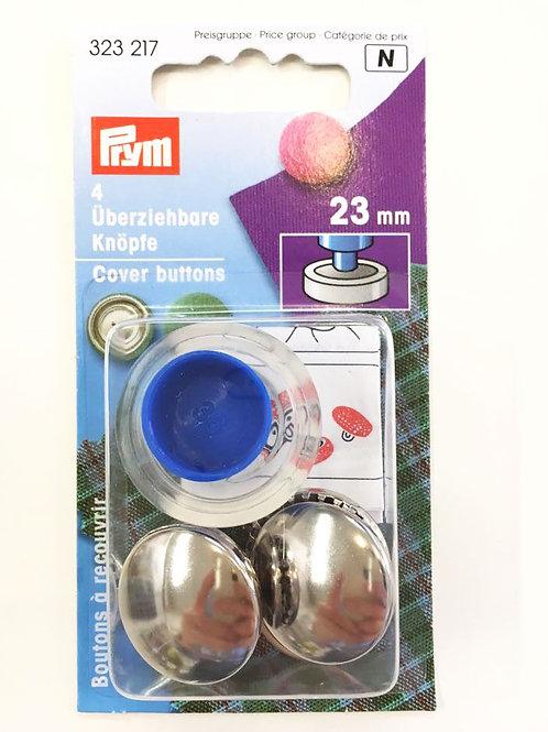 Päällystettävä nappi (metalli) 23 mm