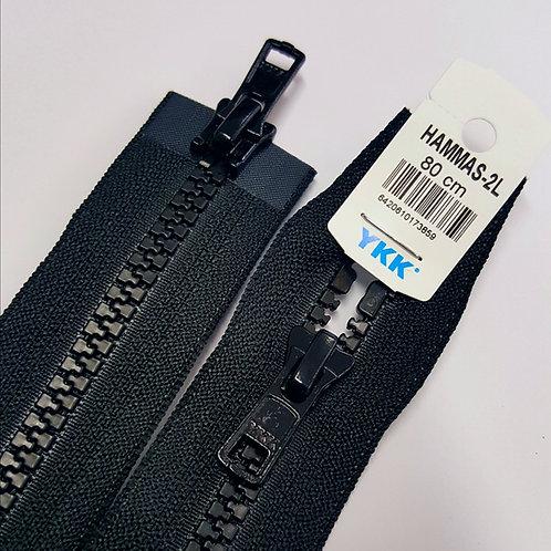 Hammasavoketju 80 cm, 2 lukkoa (musta)