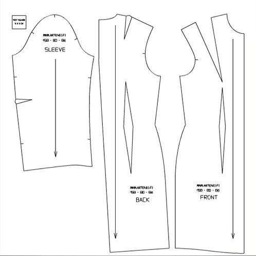 Basic Dress Pattern 158-76-82