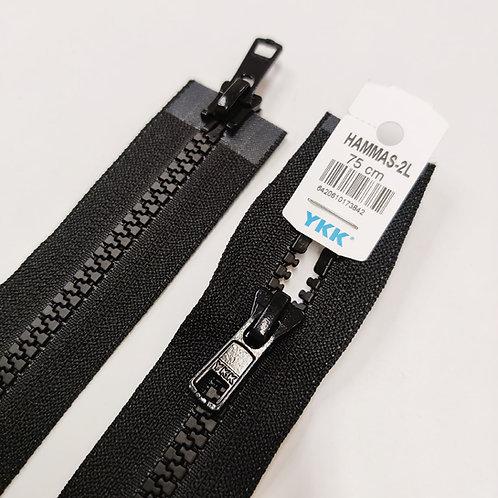 Hammasavoketju 75 cm, 2 lukkoa (musta)