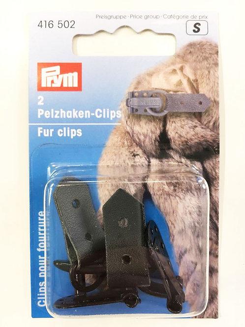 Fur clips (musta)