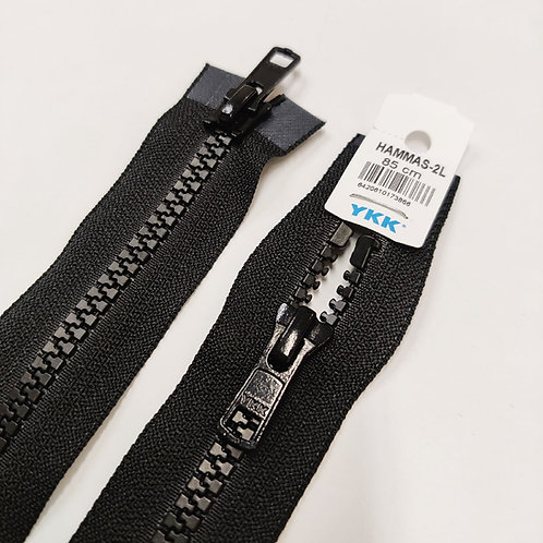 Hammasavoketju 85 cm, 2 lukkoa (musta)